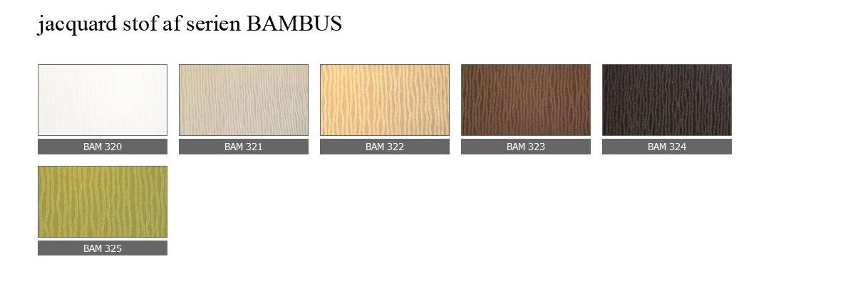 jacquard stof af serien BAMBUS