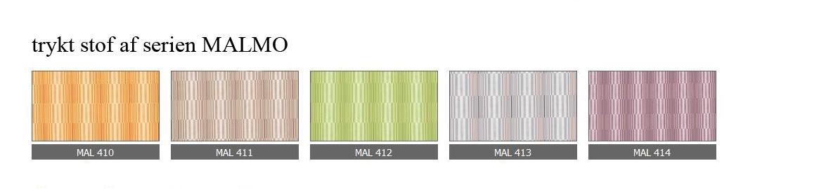 trykt stof af serien MALMO
